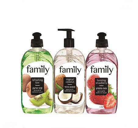 4 מארזי שלישיית סבון ידיים בניחוחות פירותיים