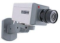 מצלמת דמה + חישן תנועה ונורית לד אדומה מהבהבת