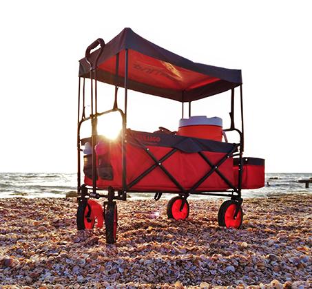 עגלה מתקפלת הכוללת גגון, תא אחסון, במגוון צבעים לבחירה דגם FULL SET - תמונה 3
