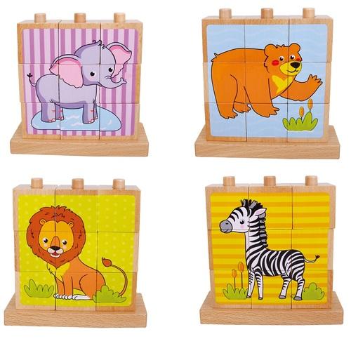 פאזל עץ קוביות 4 תמונות חיות בר - תמונה 2