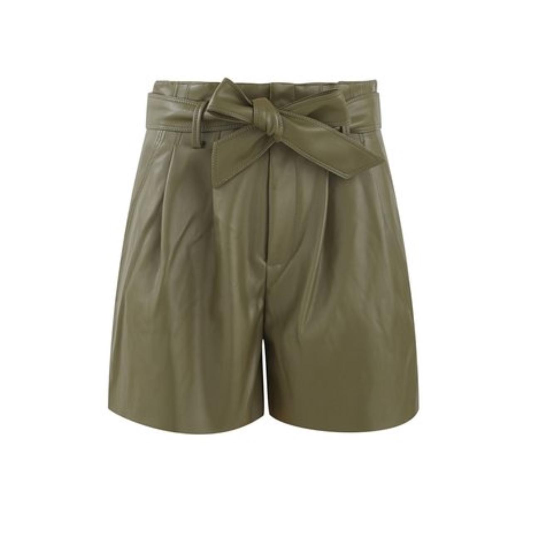 מכנסי שורט אלגנטיים בגזרה גבוהה PROMOD לנשים - צבע לבחירה