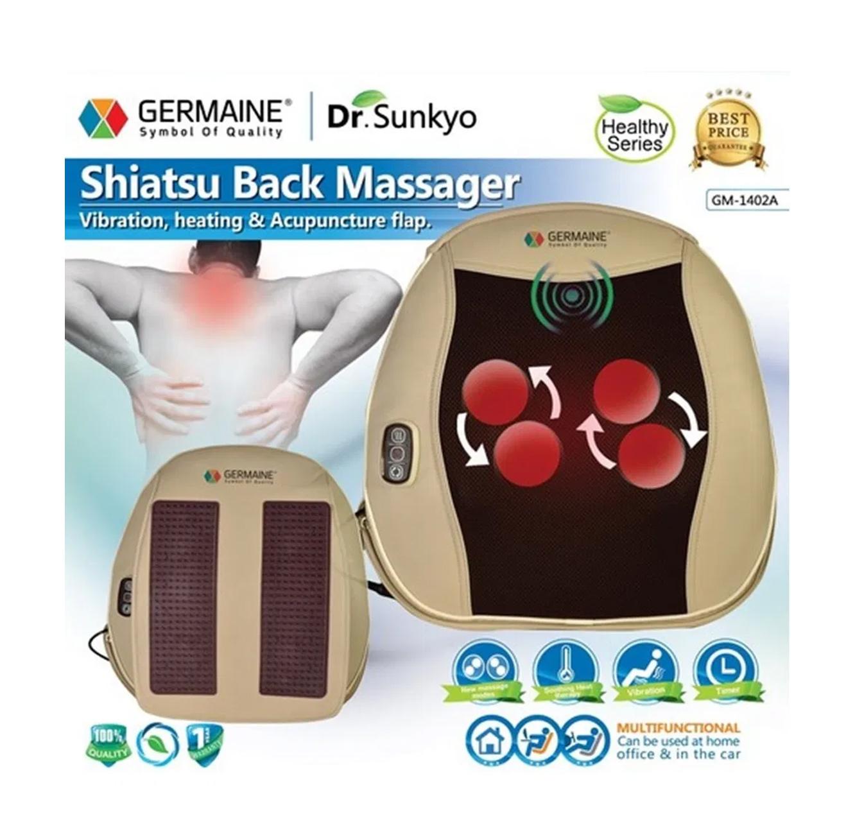 כרית עיסוי שיאצו לטיפול תרפי לגב מבית GERMAINE   - משלוח חינם - תמונה 2