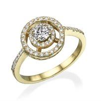 """טבעת יהלומים """"סשה"""" 0.75 קראט זהב צהוב"""