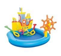 מרכז פעילות מתנפח משולב עם בריכה לילדים בצורת ספינה Bestway