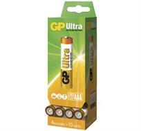 40 סוללות בודדות AAA אולטרה אלקליין S4 של חברת GP