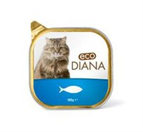 10 יחידת מעדני פטה לחתול המכילים בשר אמיתי ורכיבים איכותיים Eco Diana