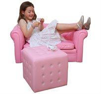 הדום מעוצב וייחודי משובץ אבנים דמויי קריסטל מתאים גם כמושב יחיד או שולחן קטן