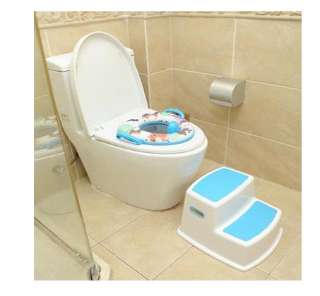 שרפרף מדרגה 2 קומות לאמבטיה או לשירותים עשוי פלסטיק חזק ועמיד מצויין לעידוד עצמאות של פעוטות - תמונה 2