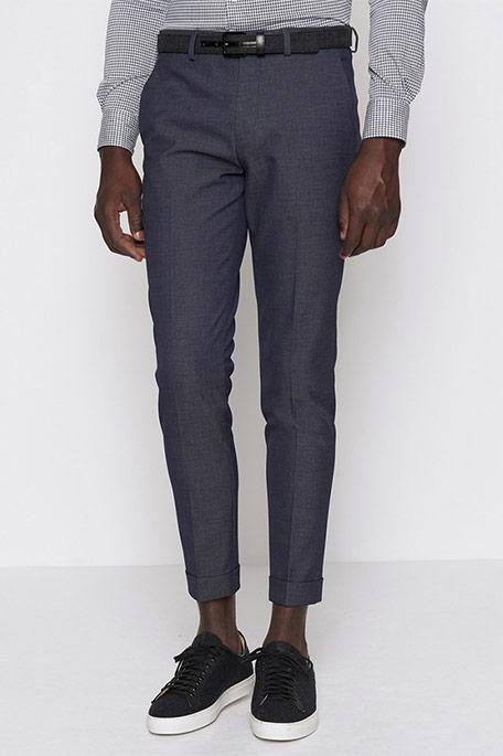 מכנס חליפה מחויט לגבר DEVRED - כחול צועני