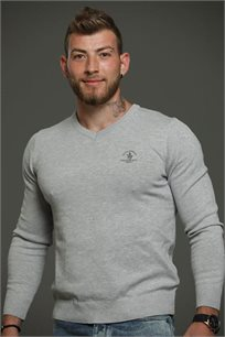סריג עם צווארון V לגברים במגוון צבעים לבחירה