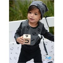 Babymitmit כובע דו צדדי לתינוק פחם - Funny Numbers
