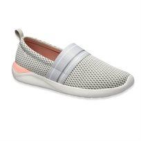 Crocs LiteRide Mesh Slip On W  - נעלי לייט-רייד בצבע אפורורוד עם חלק עליון רשת
