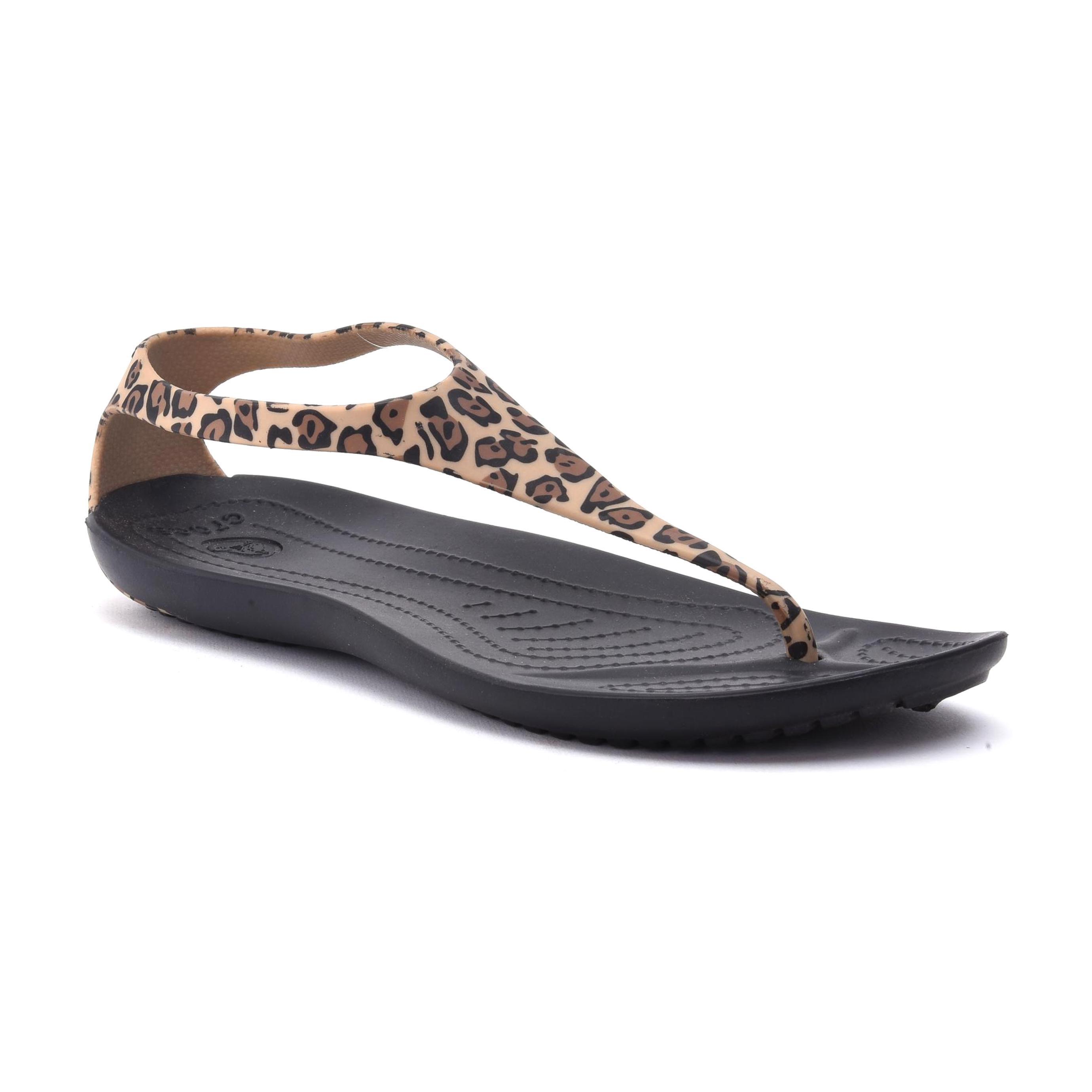 Crocs Sexi Wild Flip - סנדל אצבע לנשים בהדפס מנומר
