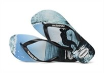 HAVAIANAS גברים//  TOP PHOTO PRINT BLACK OCEAN