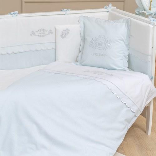 סט מצעי פרימיום 3 חלקים למיטת תינוק 100% כותנה - נסיך כחול - תמונה 2