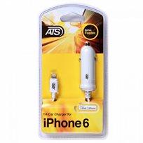 מטען לרכב ATS (מאושר אפל MFI) למכשירי 7 / Apple iPhone 5/ 5S/ 5C/ 6/ 6 Plus!!