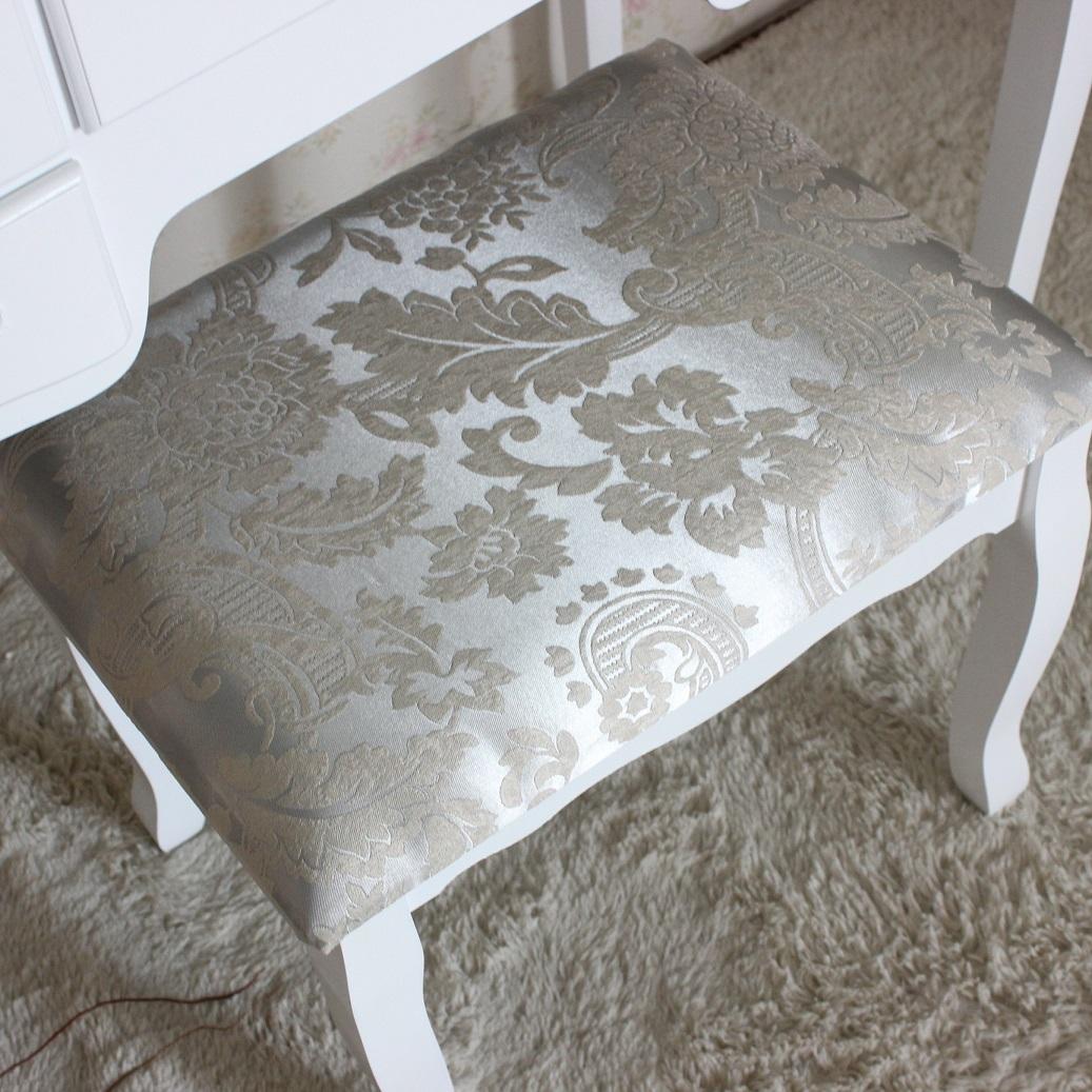 שידת איפור טואלט גדולה במיוחד עם 7 מגירות בעיצוב וינטג׳ , מראת איפור מתכוונת וכסא תואם במתנה! משלוח חינם - תמונה 5