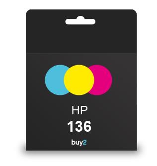ראש דיו תואם HP 136 צבעוני