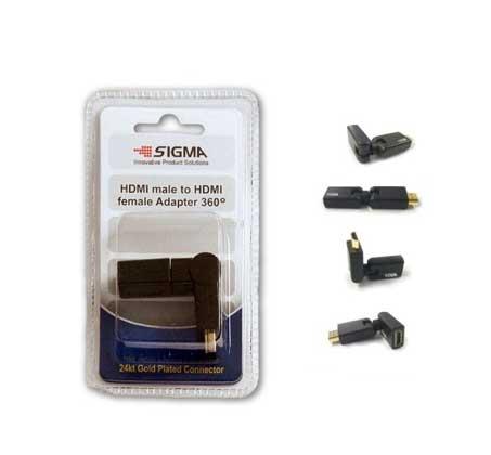 מתאם HDMI זוויתי (עד 90 מעלות) מסתובב 360 מעלות להתאמה מעולה לכל מצב