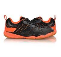 נעלי אינדור מקצועיות לגברים Li Ning Badminton Training בצבעי שחור/כתום