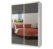 ארון הזזה 2 דלתות מראה בשילוב זכוכית דגם MGD במבחר צבעים וגדלים