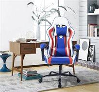 כיסא גיימרים מקצועי בעיצוב ארגונומי יוקרתי דגם אמריקה NF