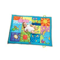 שמיכה גדולה עם איורים עליזים, בדים שונים, מגוון פעילויות ומראה מבית Tiny Love