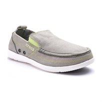 Crocs Walu - נעל גברים ללא שרוכים בצבע אפור בהירלבן