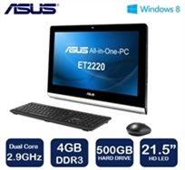 """מחשב 21.5"""" All In One מבית Asus דגם Et2220iuki מעבד Pentium Dual-Core זיכרון 4Gb דיסק קשיח 500Gb מערכת הפעלה Windows 8 -מוחדש"""