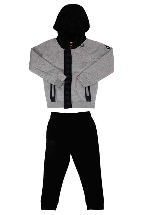 Kappa ילדים// חליפת קפוצון בנדה אפור שחור