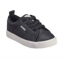 נעלי חצי לבנים דגם ג'ימי שרוך בצבע שחור