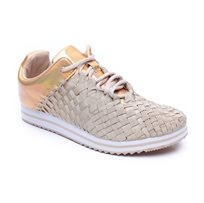 Rock Spring Fitshape - נעל סניקרס בצבע בז לנשים עם בד אלסטי קלוע