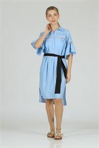 שמלה רומי תכלת - CUBiCA