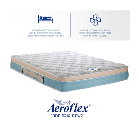 מזרן זוגי אורטופדי Visco דגם vitality Premium בשיטת ה- Aeroflex total relaxation + מגן מזרן מתנה! משלוח חינם - תמונה 2