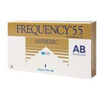 מארז 4 חבילות עדשות מגע חודשיות Frequency 55 Aspheric למשך שנה קופר ויז'ן