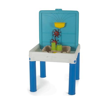 שולחן פעילות ממלכת המים כחול המסייע להתפתחות הילד