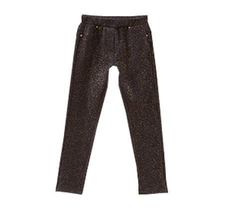 מכנסיים סטרצ'יות OVS  באפקט לורקס עם נצנצים לילדות - שחור