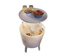 שולחן קוקטיילים טרנדי משולב בצידנית גדולה כולל תאורת לדים KETER