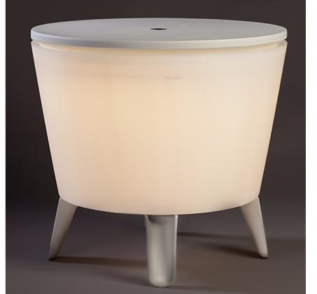 שולחן קוקטיילים טרנדי משולב בצידנית גדולה כולל תאורת לדים KETER - תמונה 3