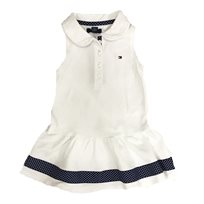 Tommy Hilfiger שמלה (2-4 שנים) לבן פס כחול