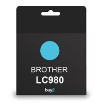 להדפיס בצבע! ראש דיו תואם BROTHER LC980 צבע כחול, דיו איכותי למדפסת