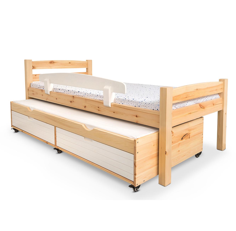מיטת יחיד מעץ מלא במגוון צבעים דגם יהלי
