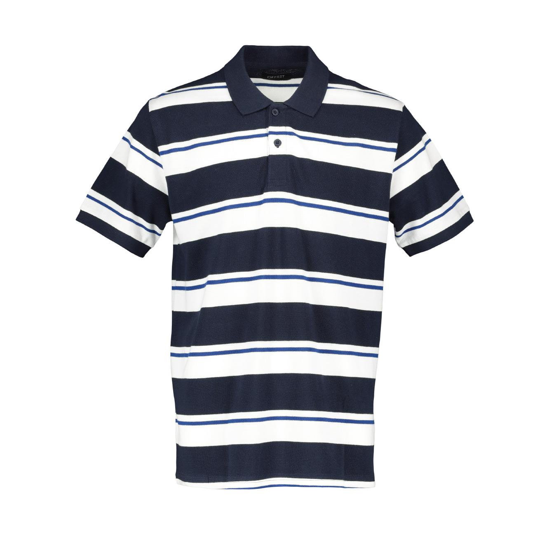 חולצת פולו פיקה 3 פסים Offset לגברים  - צבע לבחירה