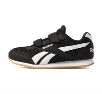 נעלי סניקרס Reebok לילדים דגם Royal CLJog 2 2V בצבע שחור/לבן