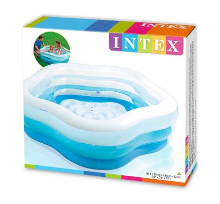 בריכה מתנפחת בצורת מחומש לילדים דגם 56495 INTEX  - תמונה 3