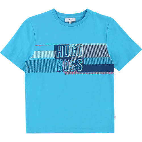 Boss חולצת טישרט (16-4 שנים) אפליקציה