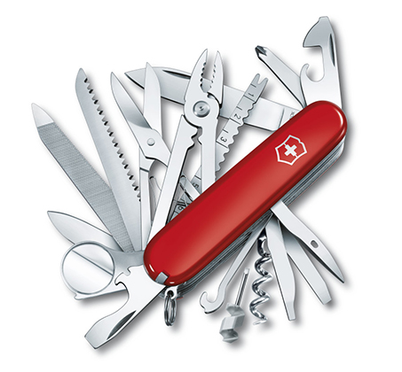 אולר שוויצרי VICTORINOX דגם Swiss Champ בעל 33 פונקציות ואחריות לכל החיים