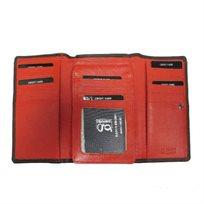 Emporio Govani ארנק אדום עור ׳נאפה׳