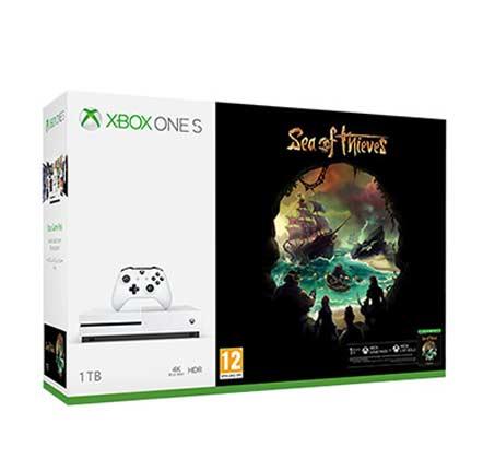 מארז הכולל קונסלת  Xbox One S בנפח 1TB בקר אלחוטי ומשחק  Sea of Thieves