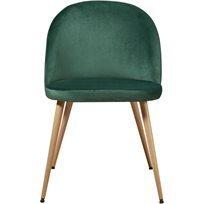 סט של 4 כיסא לפינת אוכל קטיפה Scandi - ירוק - משלוח חינם